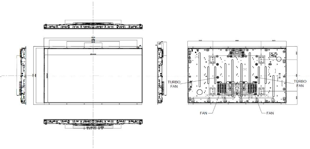 LCD technical drawing