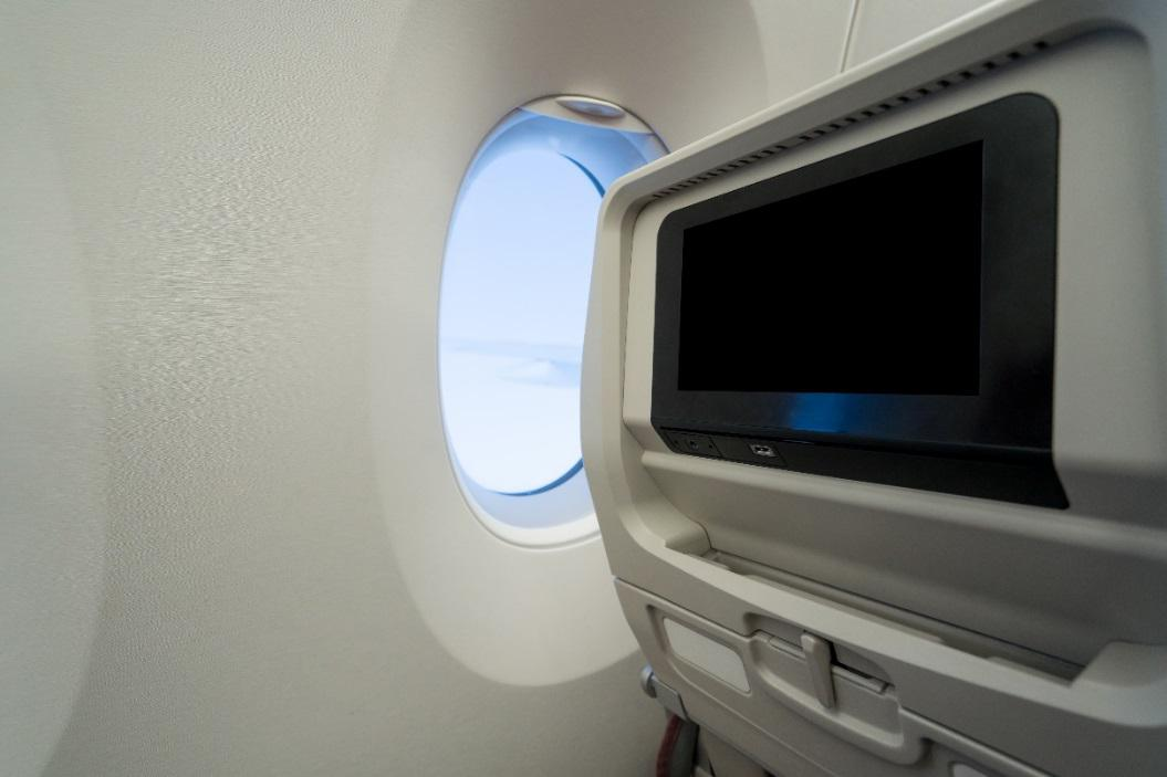 In flight entertainment LCD display panels