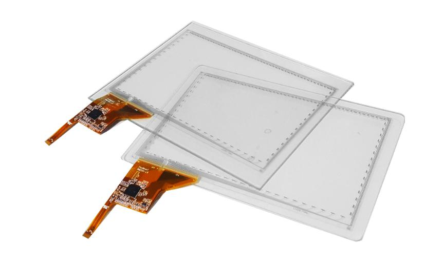 LCD touch sensor with tail
