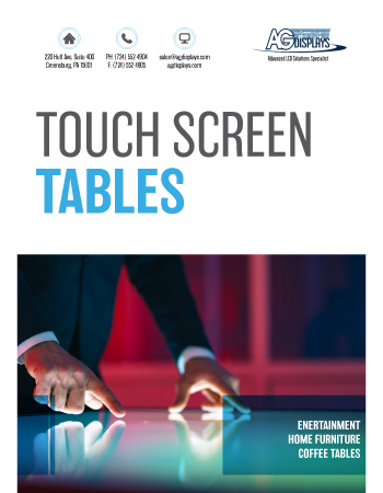 AGDisplays Touch Screen Tables