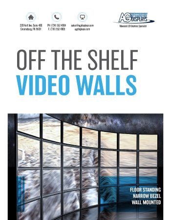 AGDisplays Off the Shelf Video Walls