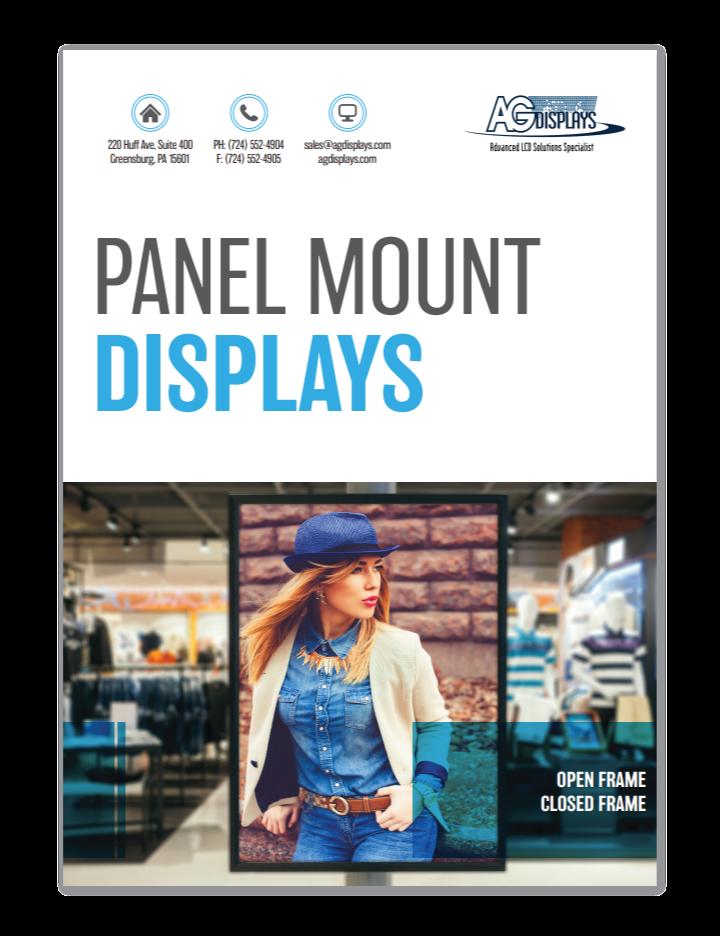 lcd digital signage panel mount displays