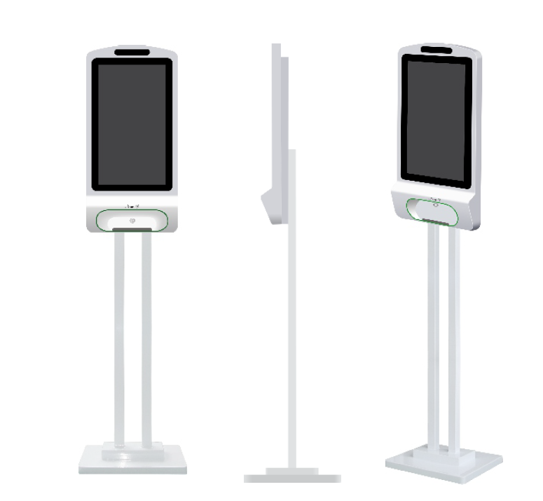 hand sanitizing system with hand sanitizer lcd